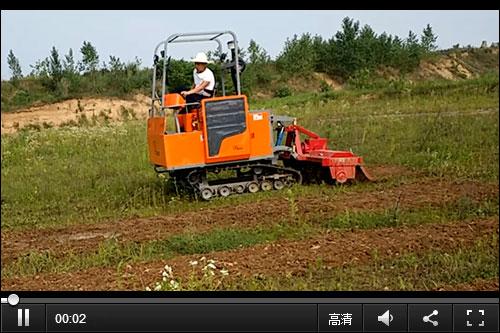双利1GZ-200/230自走式履带旋耕机耕作